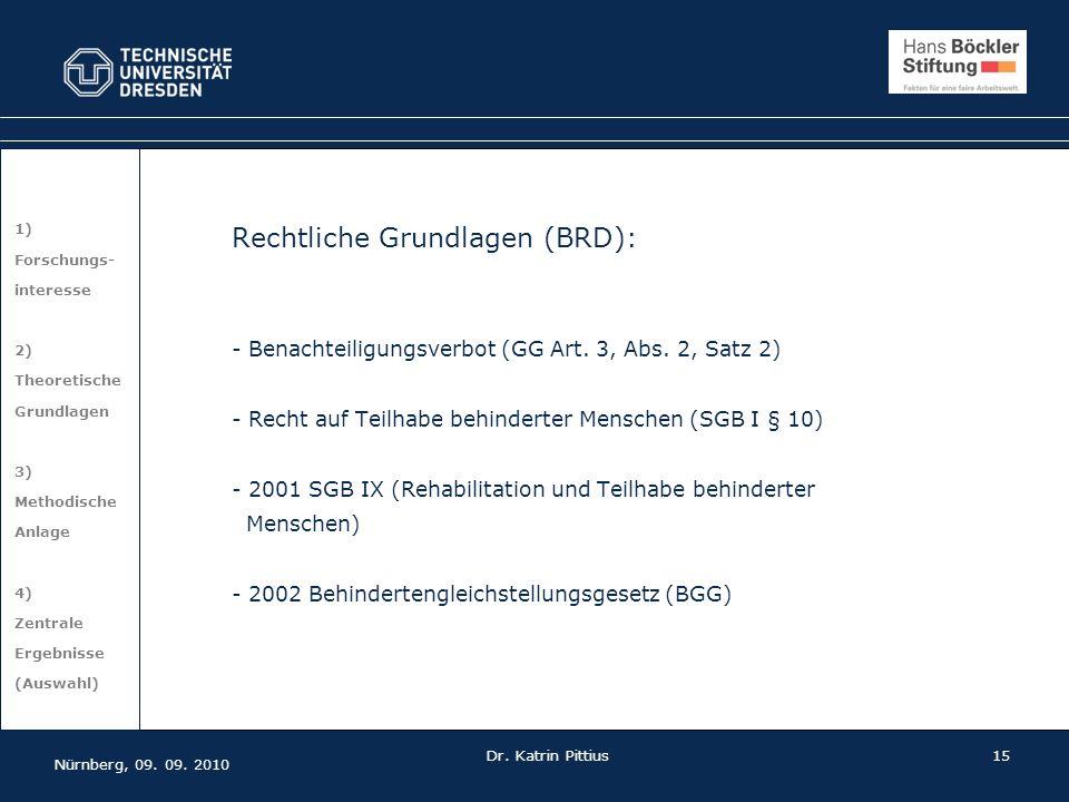 Rechtliche Grundlagen (BRD):
