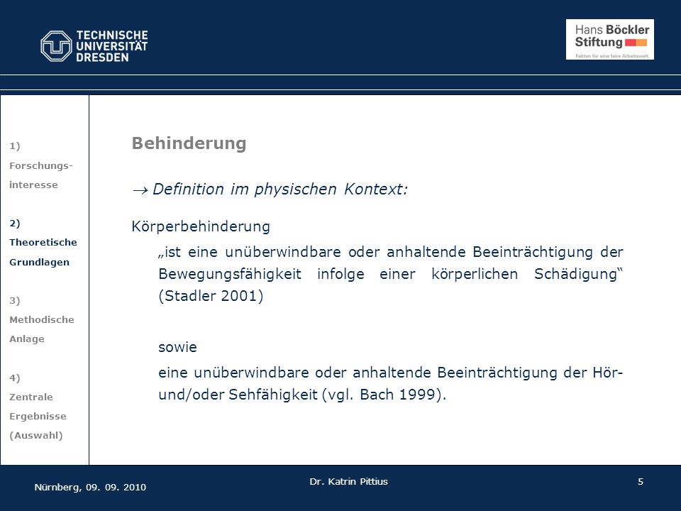  Definition im physischen Kontext: