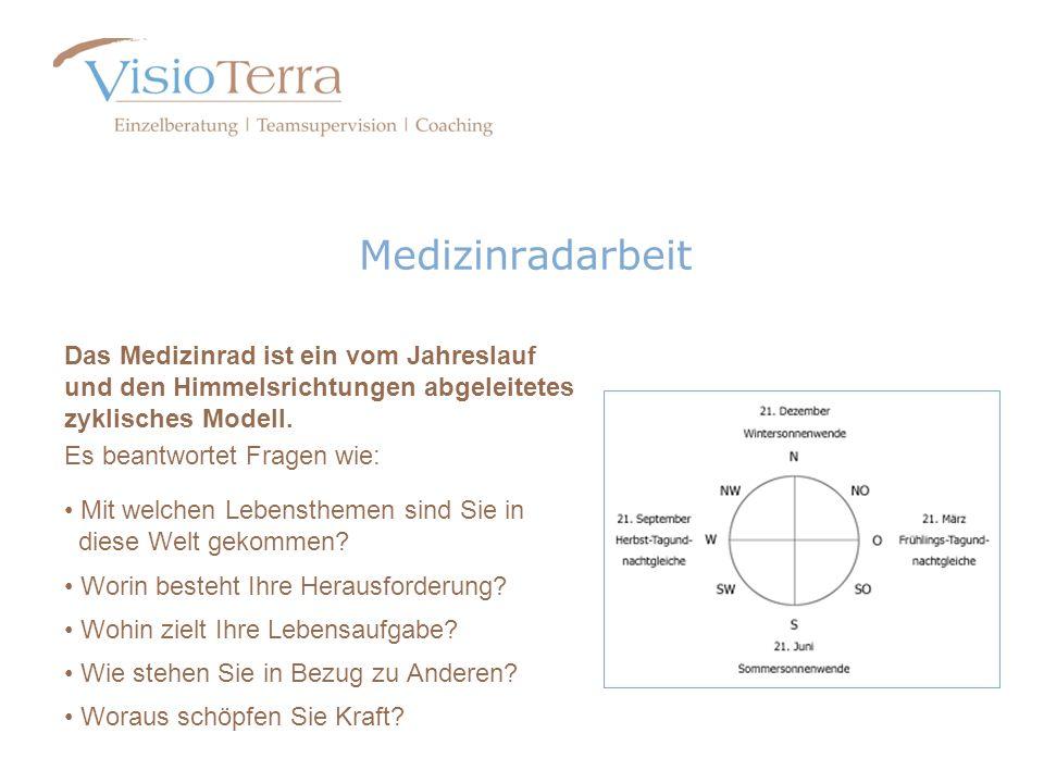 MedizinradarbeitDas Medizinrad ist ein vom Jahreslauf und den Himmelsrichtungen abgeleitetes zyklisches Modell.