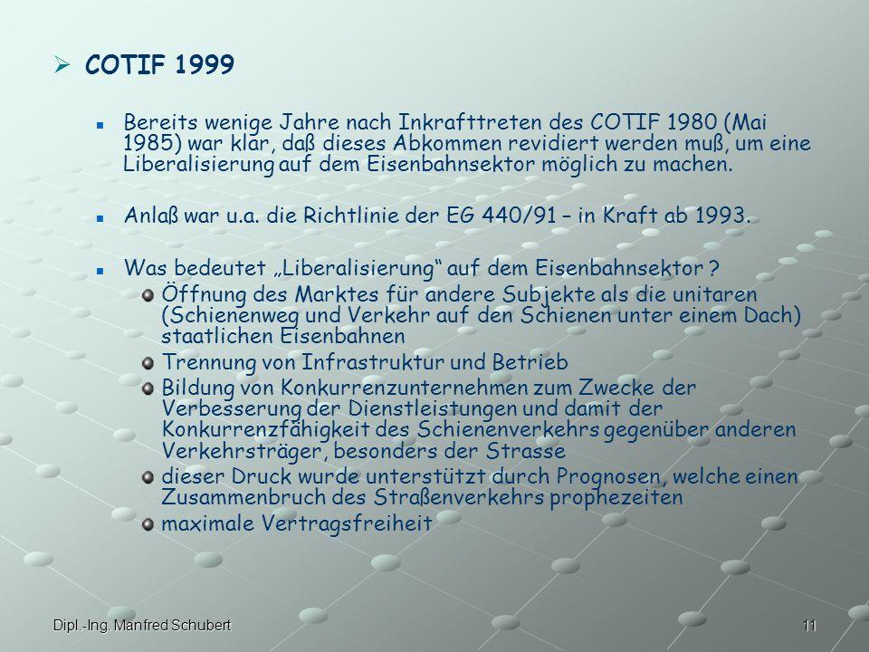 COTIF 1999