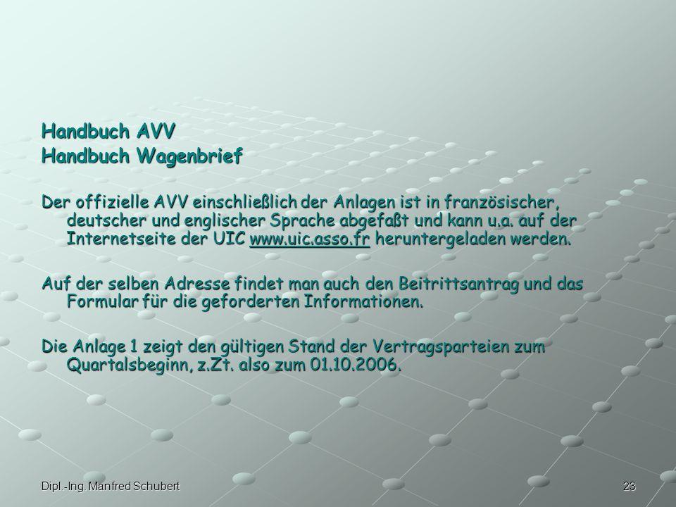 Handbuch AVV Handbuch Wagenbrief