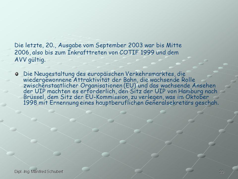 Die letzte, 20., Ausgabe vom September 2003 war bis Mitte
