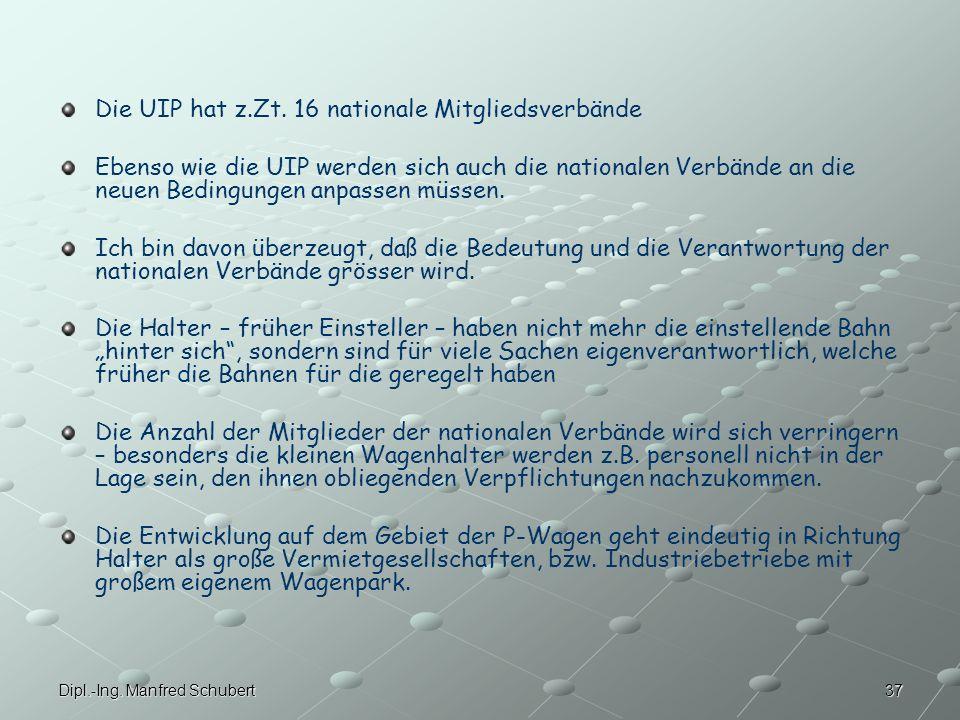 Die UIP hat z.Zt. 16 nationale Mitgliedsverbände