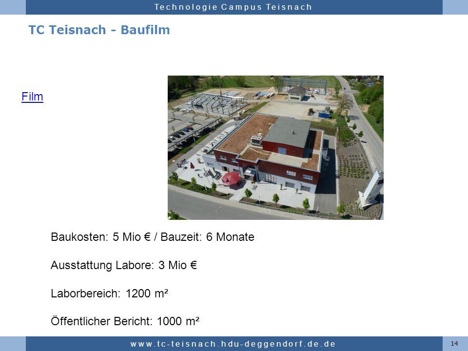 Baukosten: 5 Mio € / Bauzeit: 6 Monate Ausstattung Labore: 3 Mio €