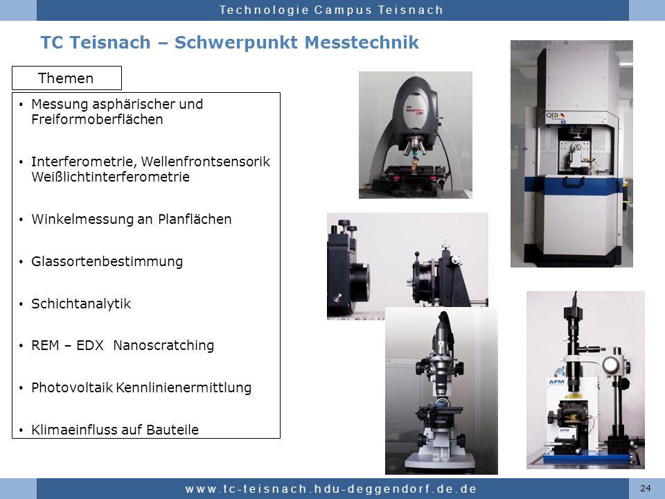TC Teisnach – Schwerpunkt Messtechnik