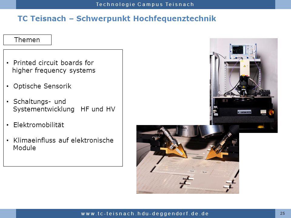 TC Teisnach – Schwerpunkt Hochfequenztechnik