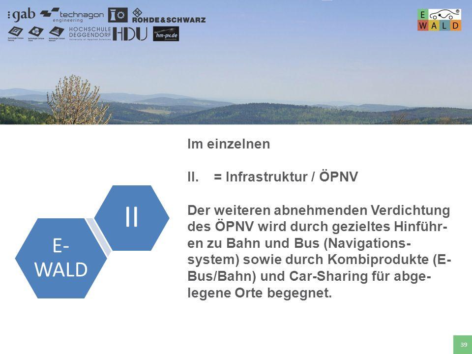 II E-WALD Im einzelnen = Infrastruktur / ÖPNV