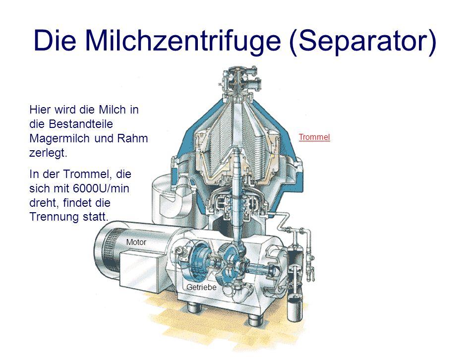 Die Milchzentrifuge (Separator)