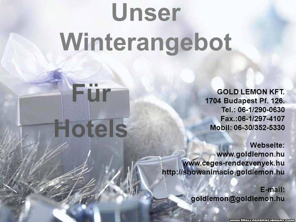 Unser Winterangebot Für Hotels