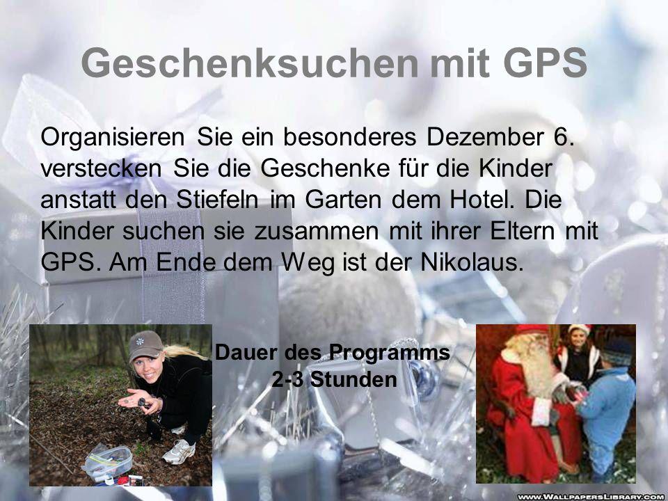 Geschenksuchen mit GPS