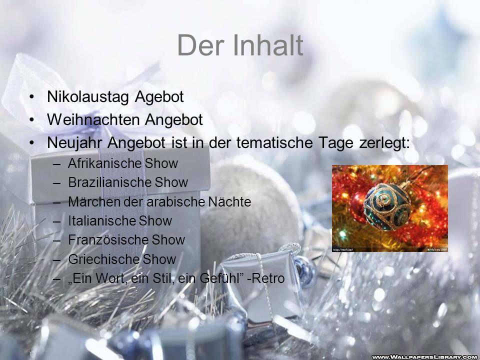 Der Inhalt Nikolaustag Agebot Weihnachten Angebot