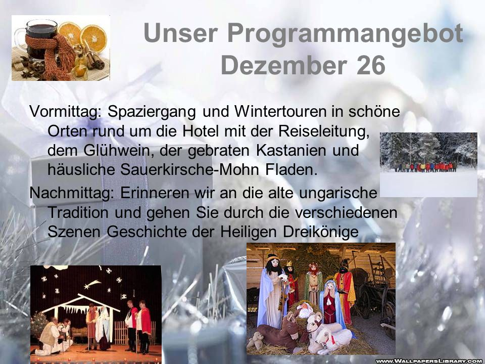 Unser Programmangebot Dezember 26