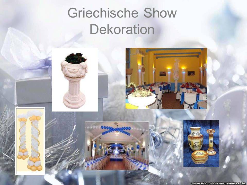 Griechische Show Dekoration