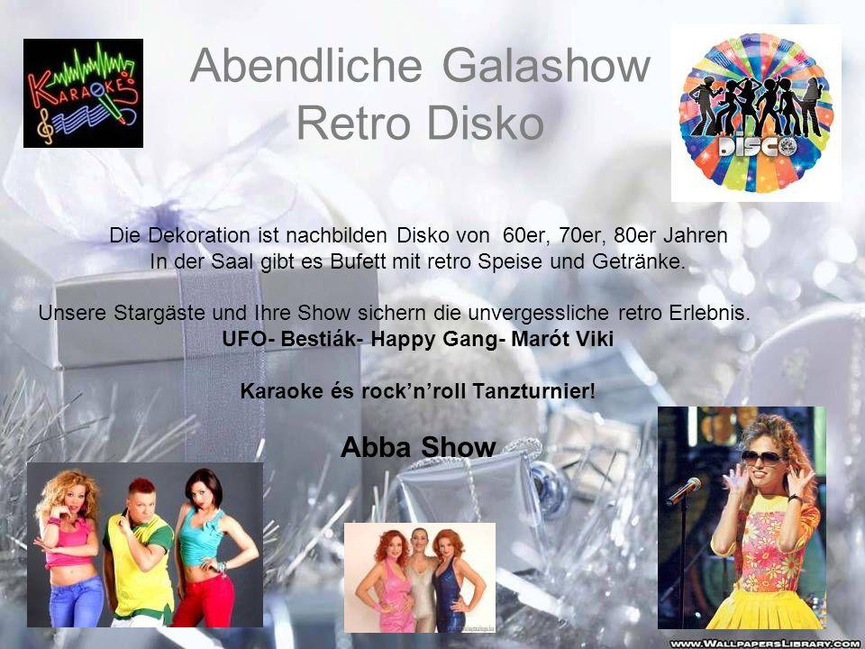 Abendliche Galashow Retro Disko