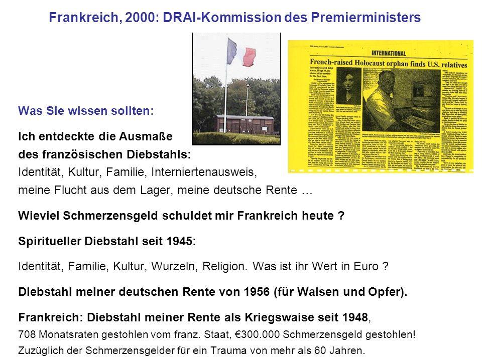 Frankreich, 2000: DRAI-Kommission des Premierministers