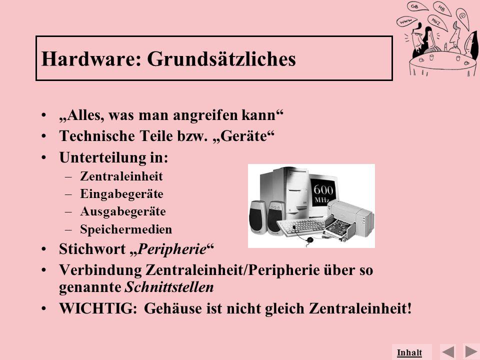 Hardware: Grundsätzliches