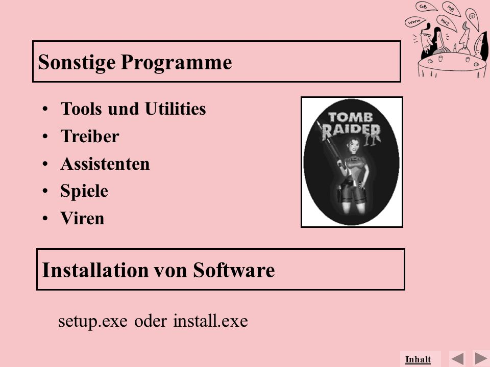 Installation von Software