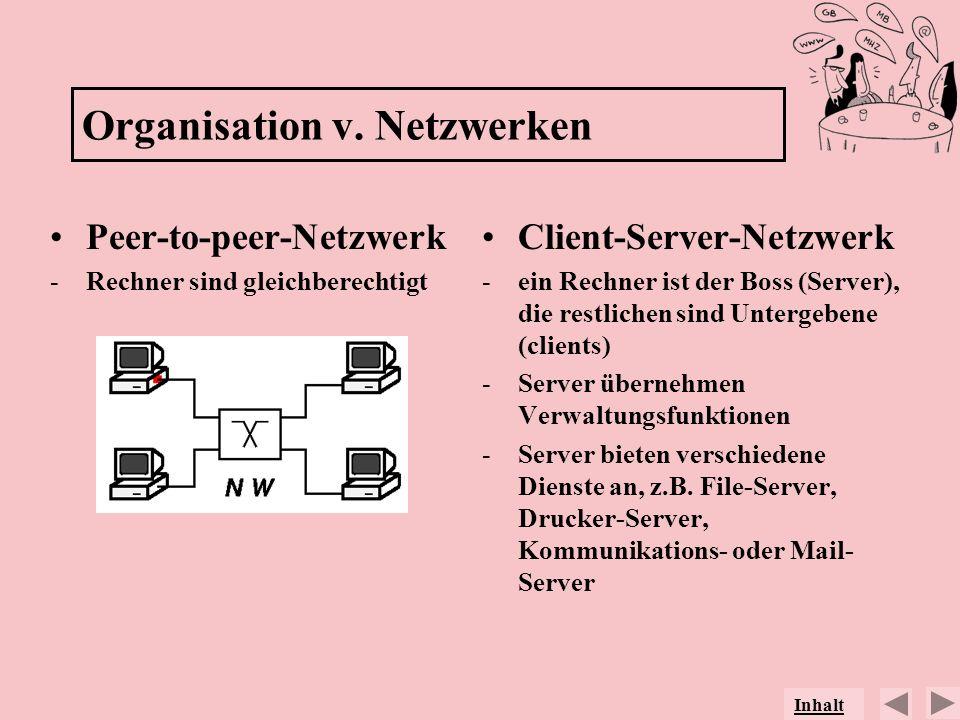 Organisation v. Netzwerken
