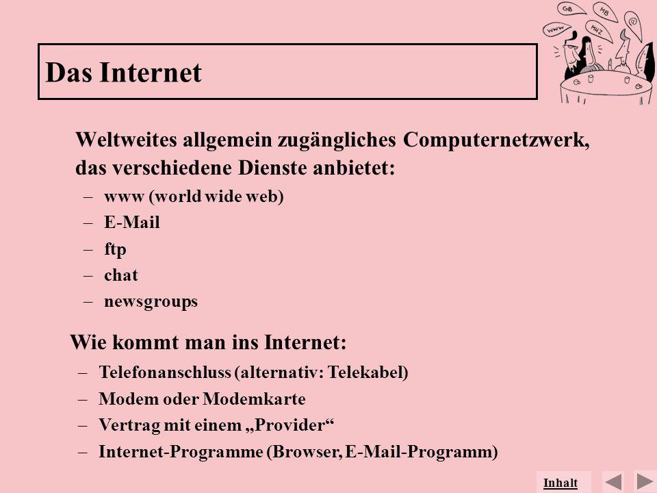 Wie kommt man ins Internet: