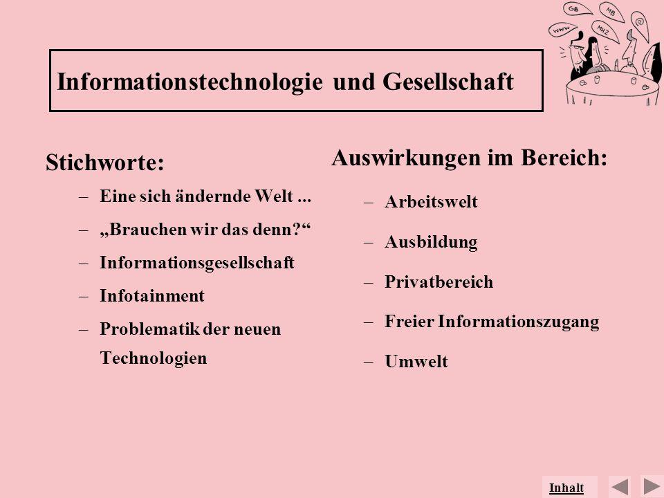 Informationstechnologie und Gesellschaft