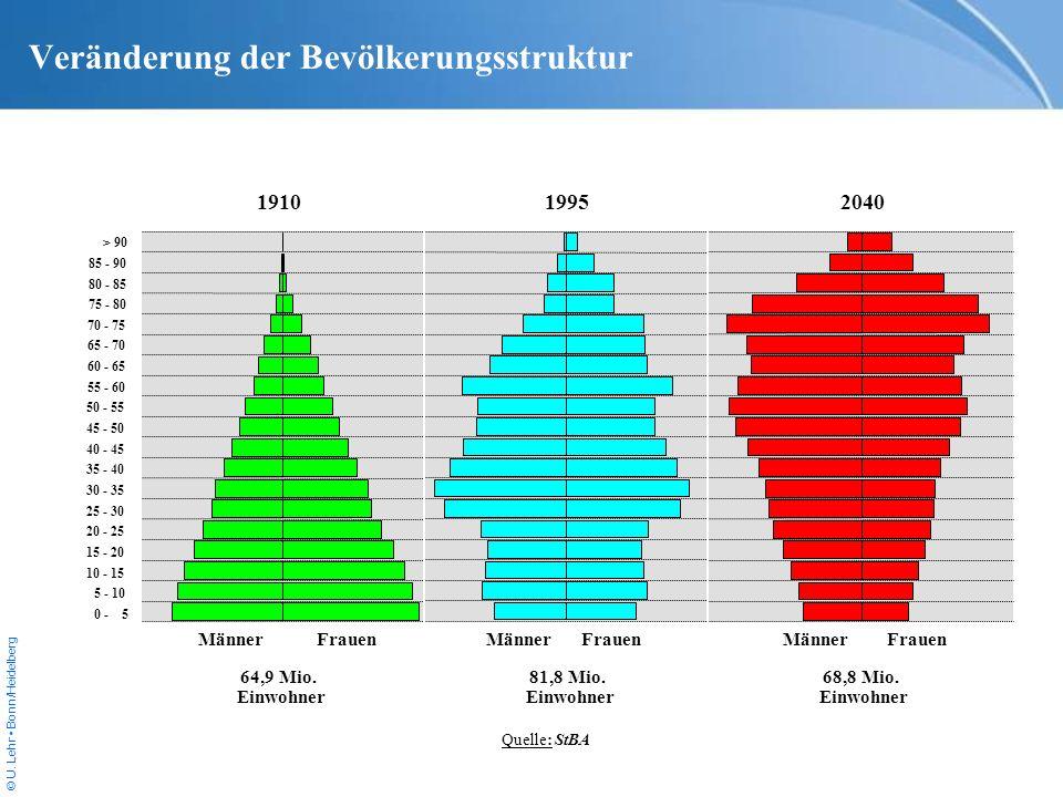 Veränderung der Bevölkerungsstruktur