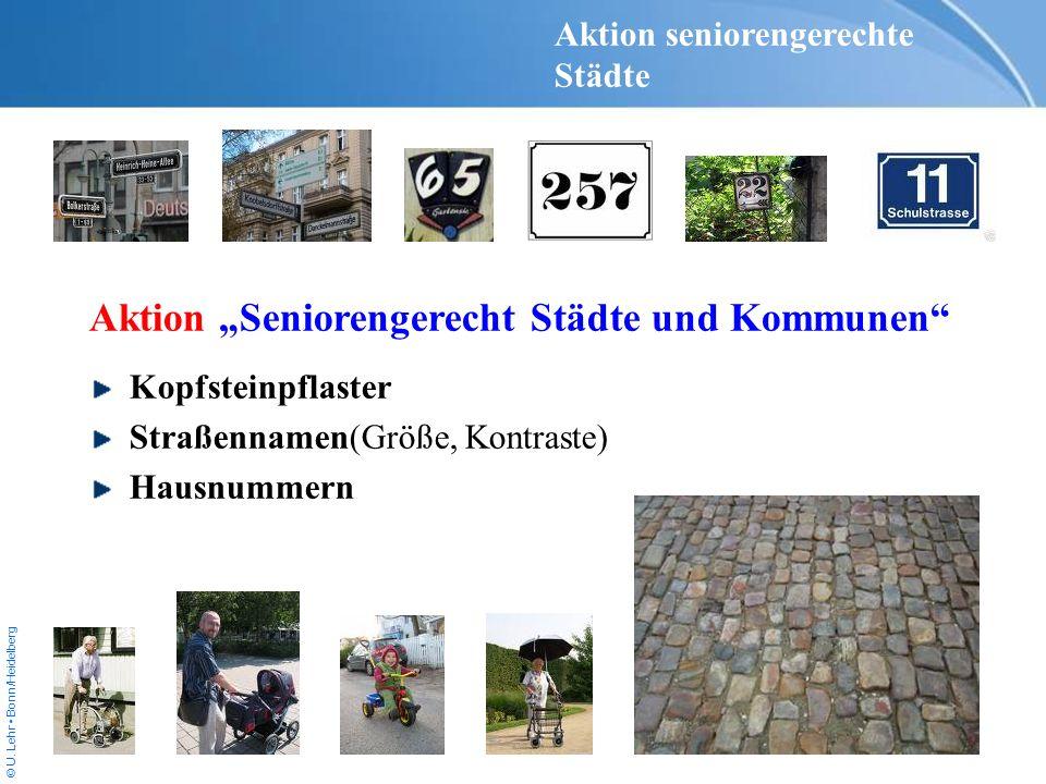 """Aktion """"Seniorengerecht Städte und Kommunen"""