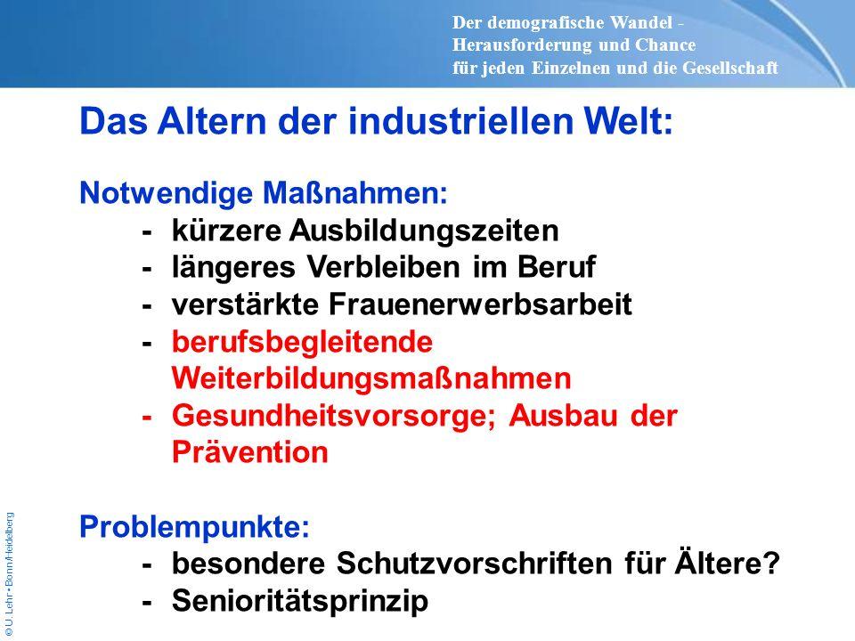 Das Altern der industriellen Welt: