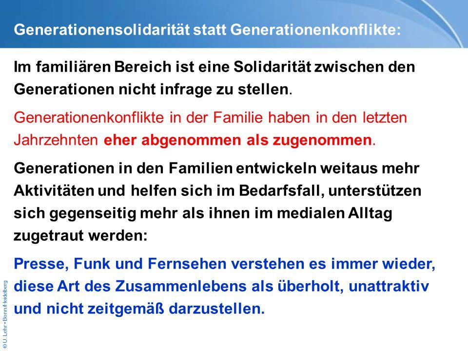 Generationensolidarität statt Generationenkonflikte:
