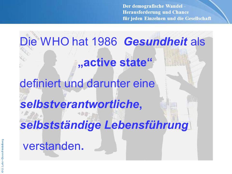 """Die WHO hat 1986 Gesundheit als """"active state"""