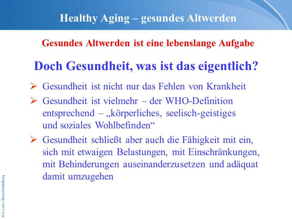 Healthy Aging – gesundes Altwerden