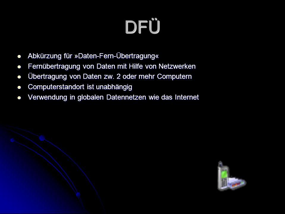 DFÜ Abkürzung für »Daten-Fern-Übertragung«