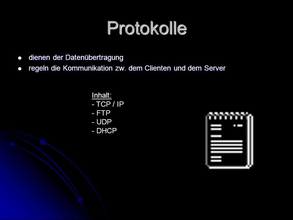 Protokolle dienen der Datenübertragung
