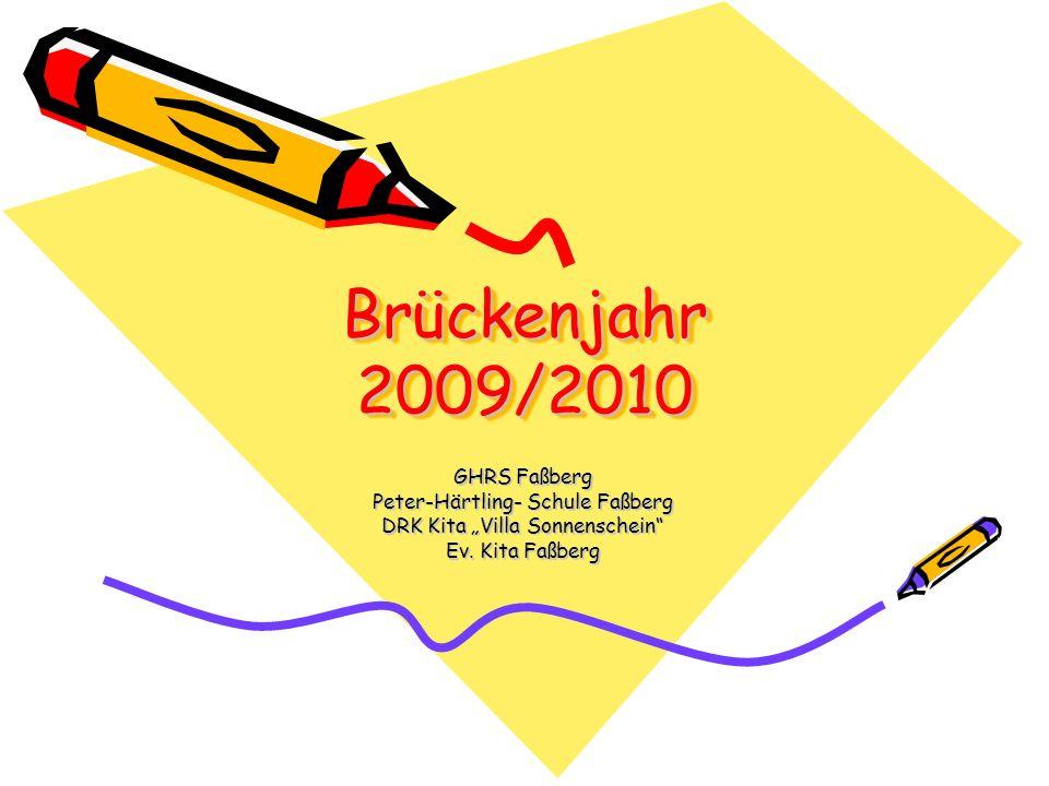 Brückenjahr 2009/2010 GHRS Faßberg Peter-Härtling- Schule Faßberg