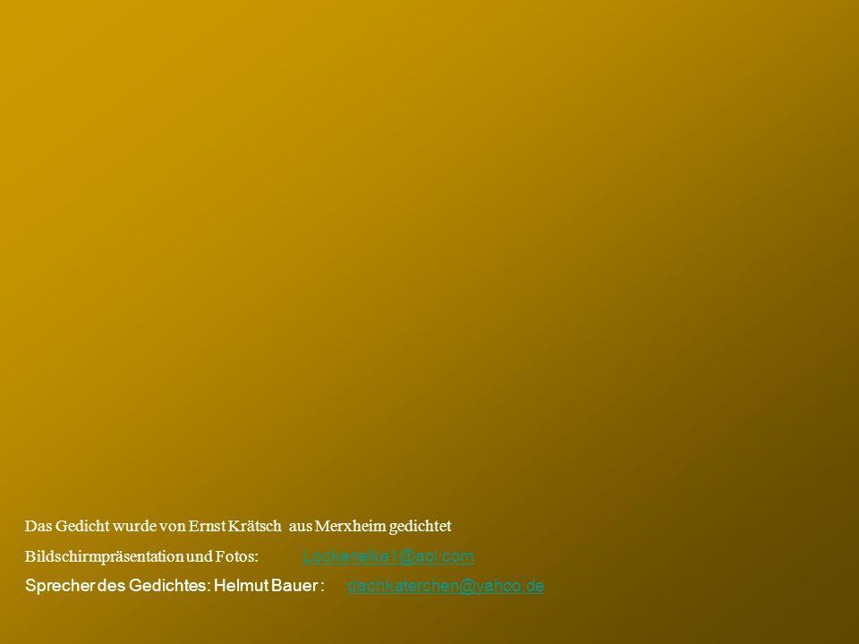 Das Gedicht wurde von Ernst Krätsch aus Merxheim gedichtet