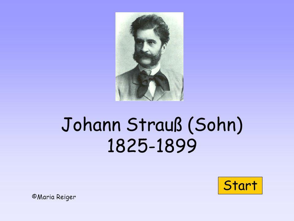 Johann Strauß (Sohn) 1825-1899 Start ©Maria Reiger