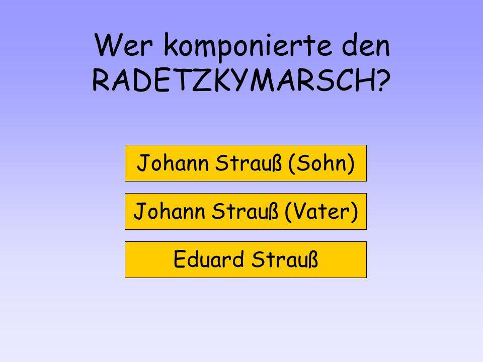 Wer komponierte den RADETZKYMARSCH