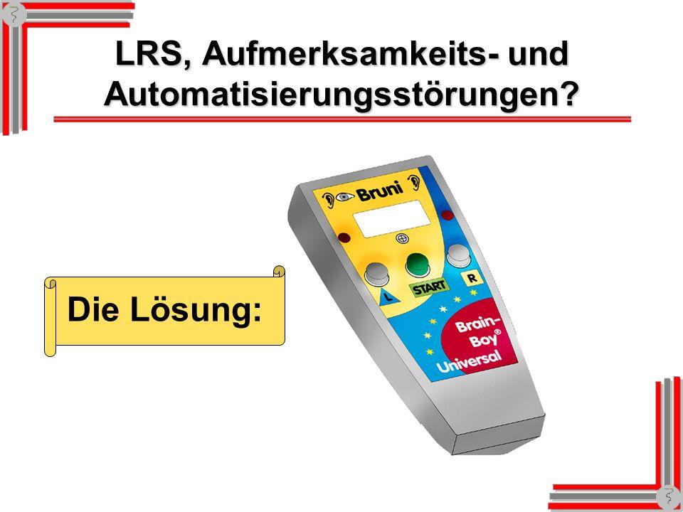 LRS, Aufmerksamkeits- und Automatisierungsstörungen