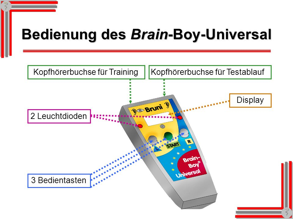 Bedienung des Brain-Boy-Universal