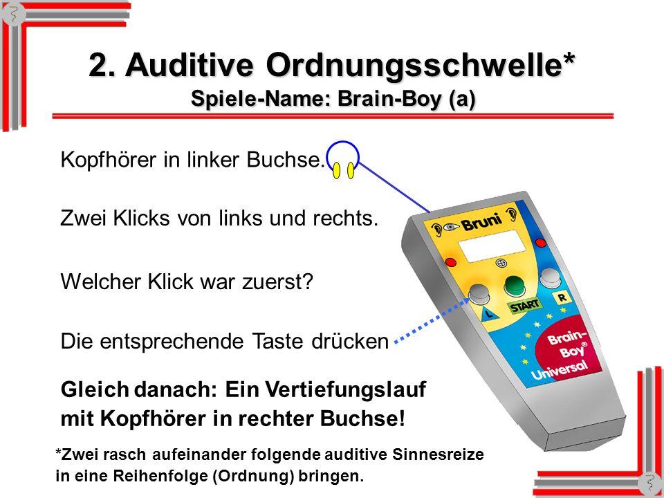 2. Auditive Ordnungsschwelle*