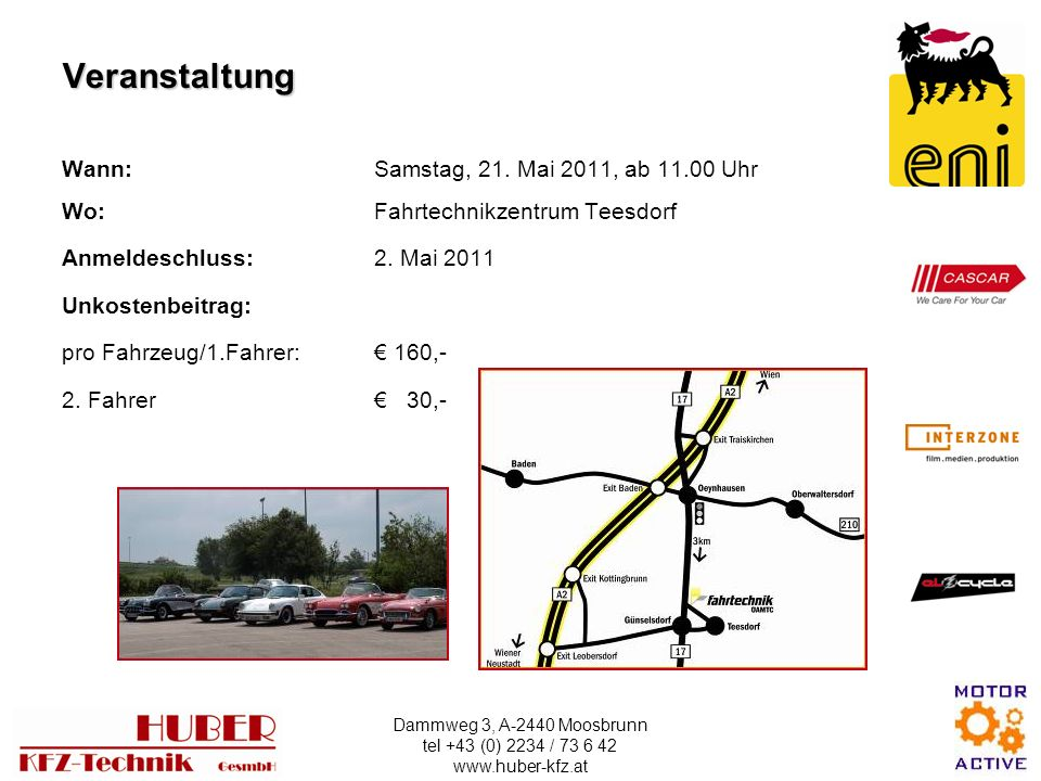 Veranstaltung Wann: Samstag, 21. Mai 2011, ab 11.00 Uhr