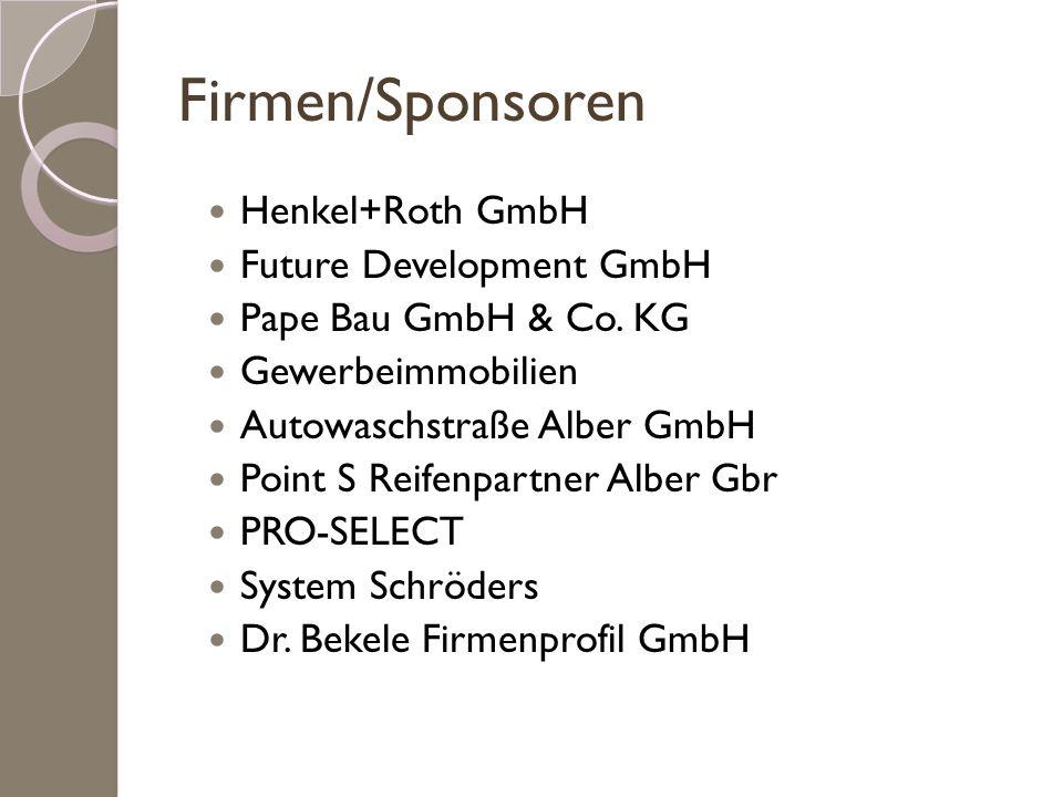 Firmen/Sponsoren Henkel+Roth GmbH Future Development GmbH
