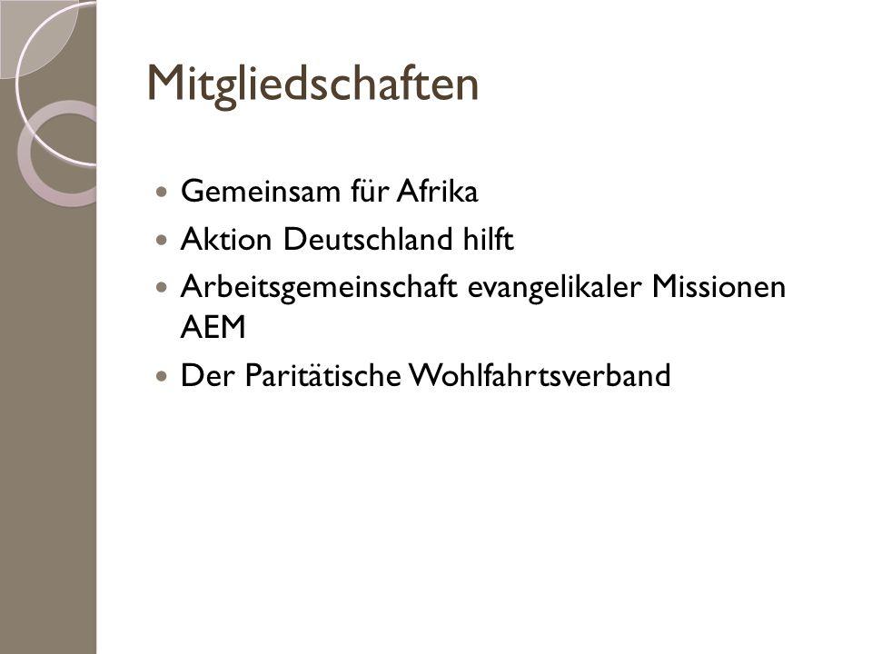 Mitgliedschaften Gemeinsam für Afrika Aktion Deutschland hilft