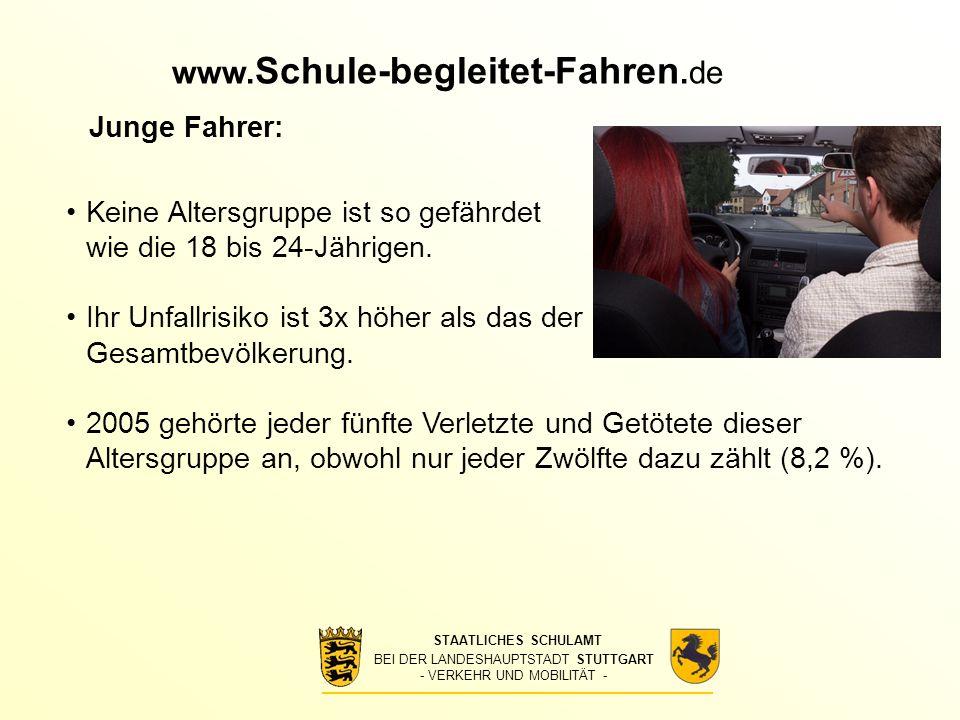 www.Schule-begleitet-Fahren.de Junge Fahrer: