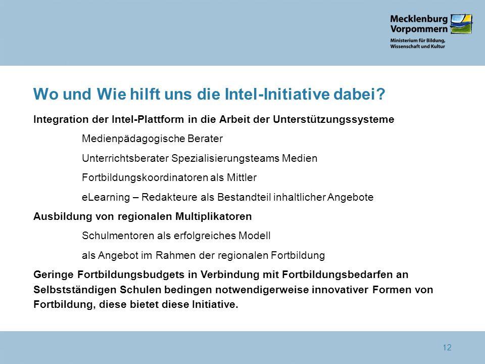 Wo und Wie hilft uns die Intel-Initiative dabei