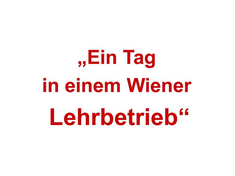 """""""Ein Tag in einem Wiener Lehrbetrieb"""