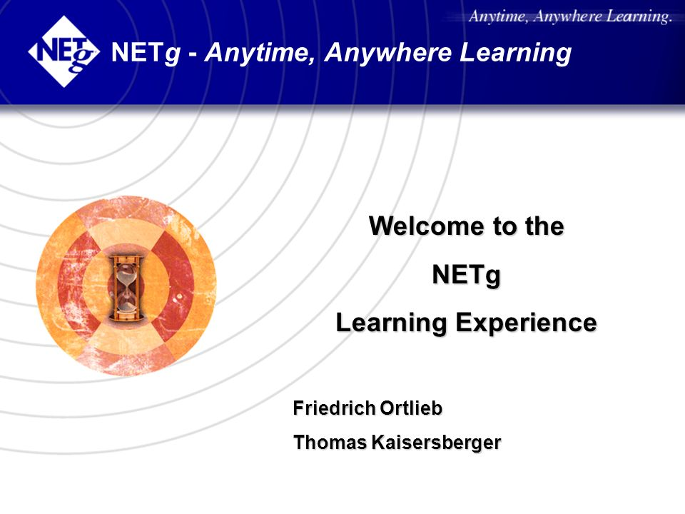 NETg - Anytime, Anywhere Learning
