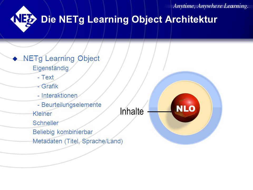 Die NETg Learning Object Architektur