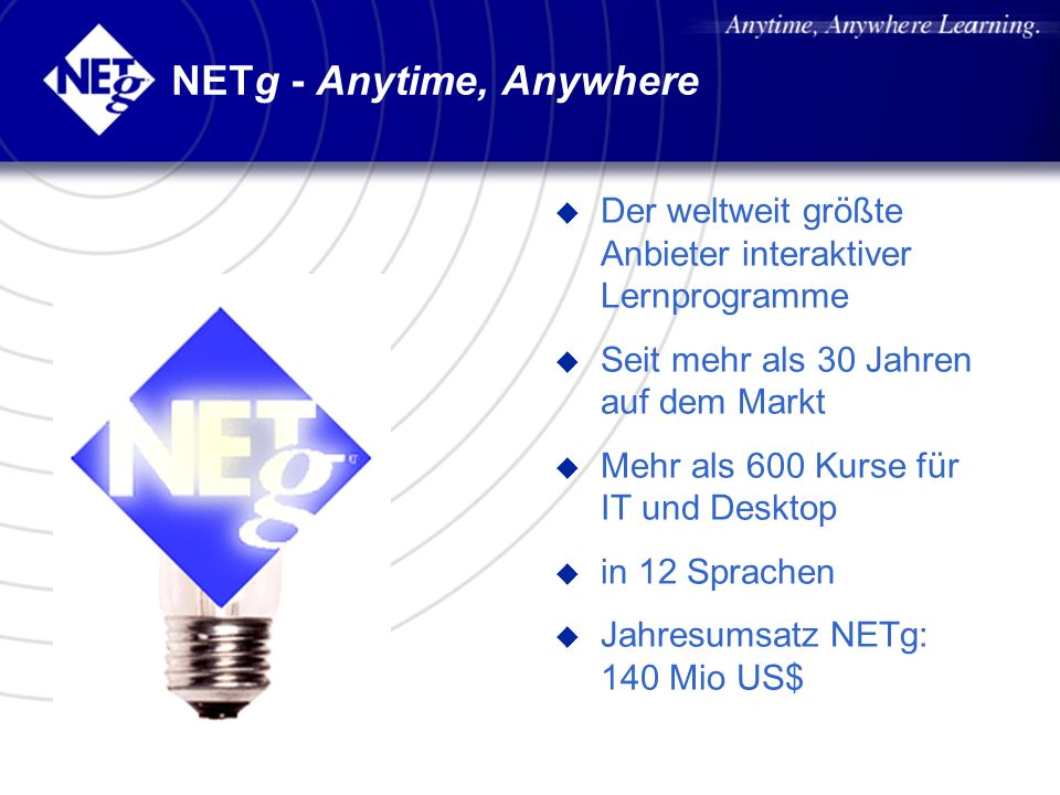 NETg - Anytime, Anywhere