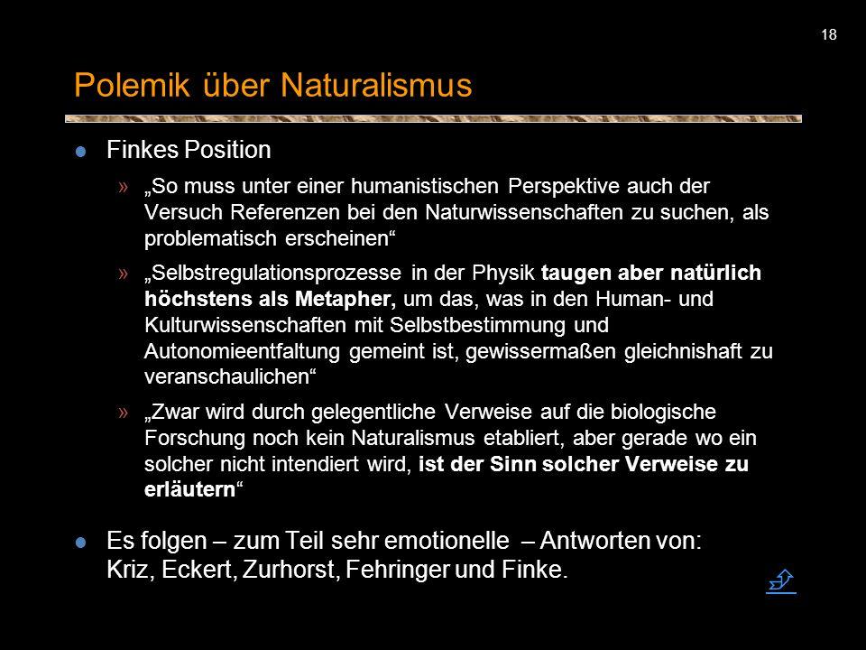 Polemik über Naturalismus