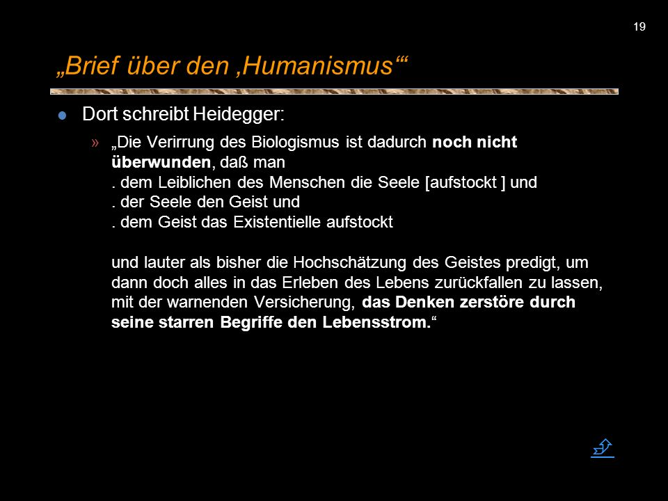 """Brief über den 'Humanismus'"